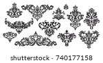 set of oriental vector damask...