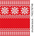 new year's christmas pattern... | Shutterstock .eps vector #740178748