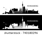 nuremberg skyline   germany  ... | Shutterstock .eps vector #740180296