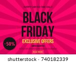 black friday  sale poster... | Shutterstock .eps vector #740182339