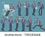 cartoon man in business suit... | Shutterstock .eps vector #740183668