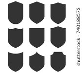 shield icons set. vector... | Shutterstock .eps vector #740188573