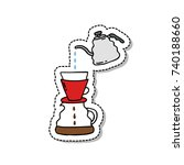 doodle icon. alternative coffee ...