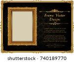 thailand royal gold frame on... | Shutterstock .eps vector #740189770