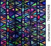 geometric seamless retro... | Shutterstock .eps vector #740191948