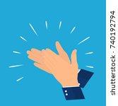 flat.   oncept of success... | Shutterstock .eps vector #740192794