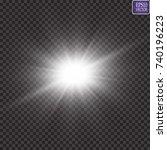 glow light effect. starburst... | Shutterstock .eps vector #740196223