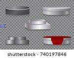 podium. pedestal. scene.... | Shutterstock .eps vector #740197846