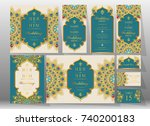 wedding invitation card... | Shutterstock .eps vector #740200183