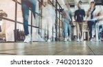 multiracial young creative... | Shutterstock . vector #740201320
