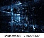 virtual space series. 3d... | Shutterstock . vector #740204530