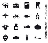 16 vector icon set   factory... | Shutterstock .eps vector #740210638