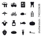16 vector icon set   factory... | Shutterstock .eps vector #740210638