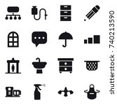 16 vector icon set   structure  ...   Shutterstock .eps vector #740213590