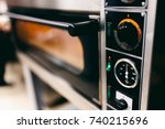 close up of an electric oven... | Shutterstock . vector #740215696