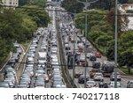 sao paulo  brazil  october 23 ... | Shutterstock . vector #740217118