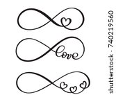 set of word love original... | Shutterstock .eps vector #740219560