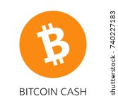 bitcoin cash vector icon.... | Shutterstock .eps vector #740227183