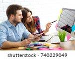 team of creative designers... | Shutterstock . vector #740229049