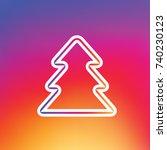 christmas outline tree icon....   Shutterstock .eps vector #740230123
