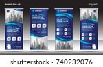 roll up banner stand template... | Shutterstock .eps vector #740232076