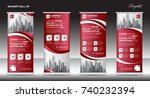 roll up banner stand template... | Shutterstock .eps vector #740232394