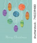 christmas postcard with... | Shutterstock .eps vector #740239480