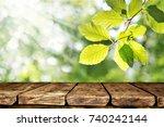 wooden table background | Shutterstock . vector #740242144