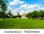 san antonio  texas  mission san ... | Shutterstock . vector #740244460