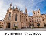 lednice castle in south moravia ... | Shutterstock . vector #740245000