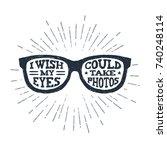 hand drawn eye glasses textured ...   Shutterstock .eps vector #740248114