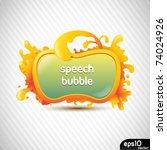 abstract orange speech bubble ... | Shutterstock .eps vector #74024926
