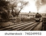 English Vintage Steam Train