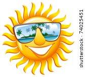 Cheerful Sun In Sunglasses Wit...