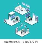 isometric 3d vector... | Shutterstock .eps vector #740257744
