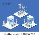 isometric 3d vector... | Shutterstock .eps vector #740257756