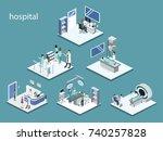 isometric 3d vector... | Shutterstock .eps vector #740257828