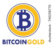 bitcoin gold sign icon for... | Shutterstock .eps vector #740258770