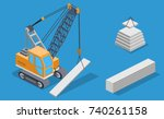 isometric 3d vector... | Shutterstock .eps vector #740261158