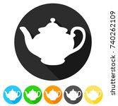 Victorian Teapot Icon Round...