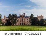 lednice castle in south moravia ... | Shutterstock . vector #740263216