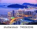 gwangan daegyo bridge at busan...   Shutterstock . vector #740263246