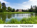 lednice castle in south moravia ... | Shutterstock . vector #740263369