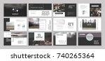 original presentation templates ... | Shutterstock .eps vector #740265364
