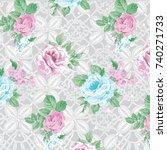 floral pattern | Shutterstock .eps vector #740271733