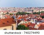 panorama prague city skyline... | Shutterstock . vector #740274490