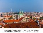 old town of prague. czech... | Shutterstock . vector #740274499
