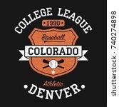 colorado  denver vintage... | Shutterstock .eps vector #740274898