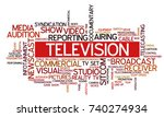 word cloud related to tv... | Shutterstock .eps vector #740274934