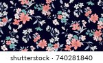 seamless floral pattern in... | Shutterstock .eps vector #740281840